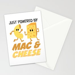 Macaroni and cheese and pizza gift Stationery Cards