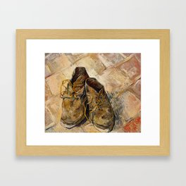 Vincent van Gogh - Shoes Framed Art Print