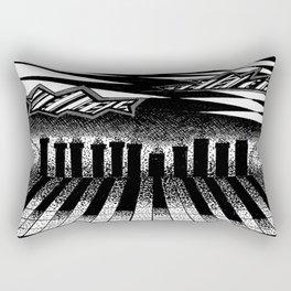 descending of night at the factory Rectangular Pillow
