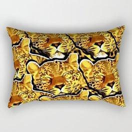 leopard graphic montage Rectangular Pillow