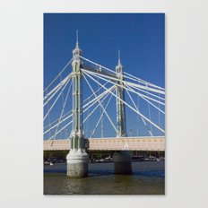 Albert Bridge on the Thames in London (2) Canvas Print