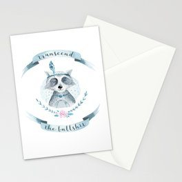 transcend the bullshit Stationery Cards