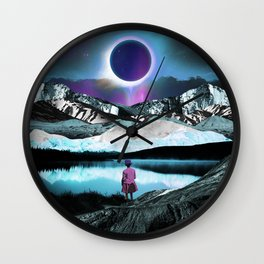 Behind the eclipse Wall Clock