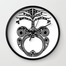 Ta moko Wall Clock