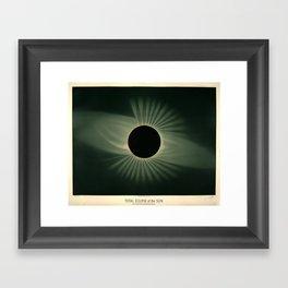 Total solar eclipse by Étienne Léopold Trouvelot (1878) Framed Art Print