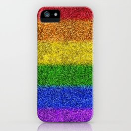 Rainbow Glitter Gradient iPhone Case