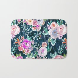 Midnight PROFUSION FLORAL Bath Mat