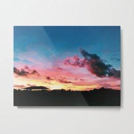 Sunning Sunset Metal Print