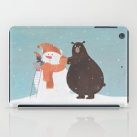 snowman iPad Cases featuring Snowman by Nadia Kovaliova