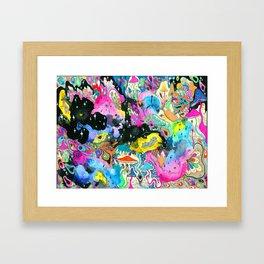 Cosmic Bloom Framed Art Print