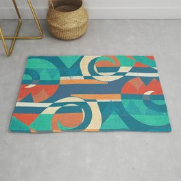 Mountains and Waves Rug