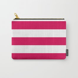 UA red - solid color - white stripes pattern Carry-All Pouch