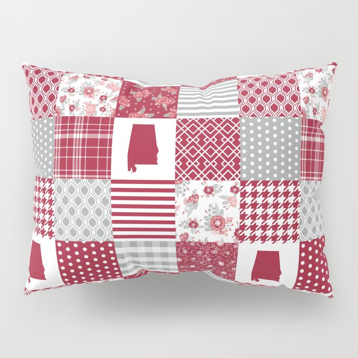 Alabama university crimson tide quilt pattern college sports alumni gifts Pillow Sham