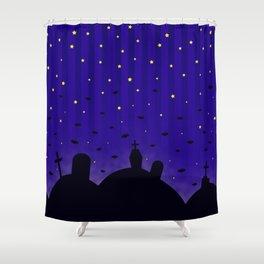 Starlit Graveyard Shower Curtain