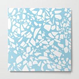 Terrazzo Blue Metal Print