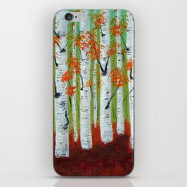 Atumn Birch trees - 5 iPhone Skin