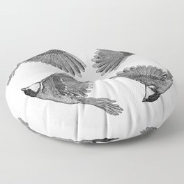 A Great tit named Titus Floor Pillow
