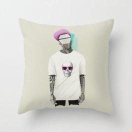 Street Style Robot #1 Throw Pillow