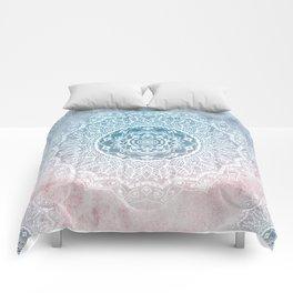 VINTAGE SPRING LACE MANDALA Comforters