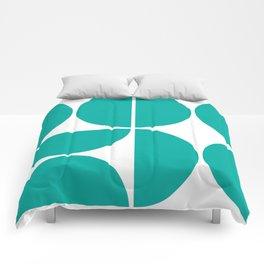Mid Century Modern Turquoise Square Comforters