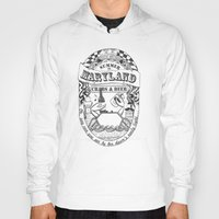 maryland Hoodies featuring Maryland Crabs & Beer by Adrienne S. Price