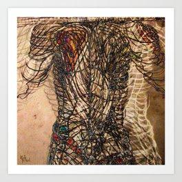 Electrified Cross-Contour Art Print