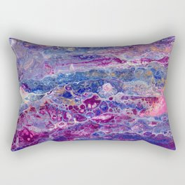 Psycho - Stream of Consciousness in Lively Color Flow by annmariescreations Rectangular Pillow