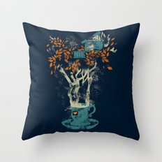 Tea House Throw Pillow