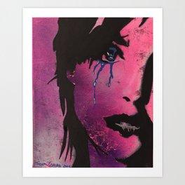 Violet  Girl Art Print