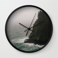 oregon Wall Clocks featuring Oregon Coast: IV // Oregon by Corrie Mick
