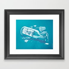 The Late Party Bird Gets the Worm Framed Art Print