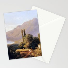 Crimean Landscape 1891 By Lev Lagorio | Reproduction | Russian Romanticism Painter Stationery Cards