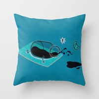 sport Throw Pillows featuring Sport Injuries by Zachary Huang