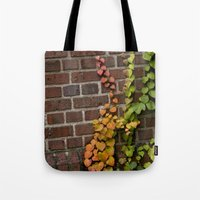 climbing Tote Bags featuring Climbing by C. Wie Design