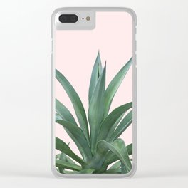 Cactus Photography Pink Clear iPhone Case
