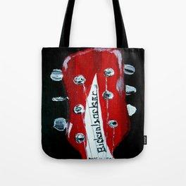 Rickenbacker Headstock Guitar Art Acrylic Painting Tote Bag