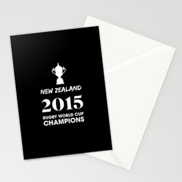 New Zealand 2015 Rugby World Cup Champions Stationery Cards