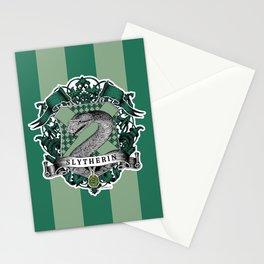 Slytherin Color Stationery Cards