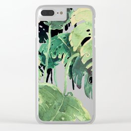 tropical pink Clear iPhone Case