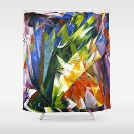 Birds by Franz Marc - Vintage Painting Shower Curtain