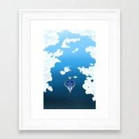 kingdom hearts Framed Art Prints featuring Kingdom Hearts by KiwisCorner