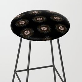 Beige Cross Flower Pattern Bar Stool
