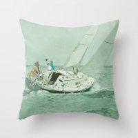 sail Throw Pillows featuring Sail by Mary Kilbreath