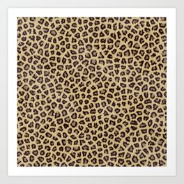 leopard jaguar cheetah print Art Print