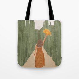 A Way Through the Cactus Field Tote Bag