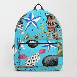 rockabilly bone daddy crush, blue turquoise aqua Backpack
