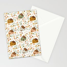 Cozy Houses Stationery Cards