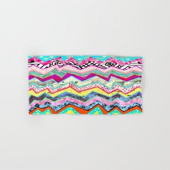 Rainbow Abstract Geometric  Hand & Bath Towel
