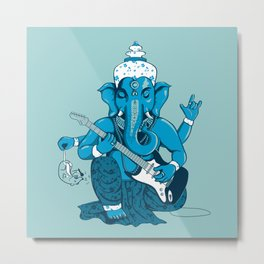 Ganesha rocks ! (v3) Metal Print