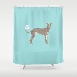 italian greyhound farting dog cute funny dog gifts pure breed dogs Shower Curtain